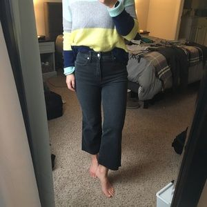 Madewell high rise boot cut jeans